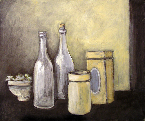 Pieter Wiegersma - Two bottles and two boxes - 2004